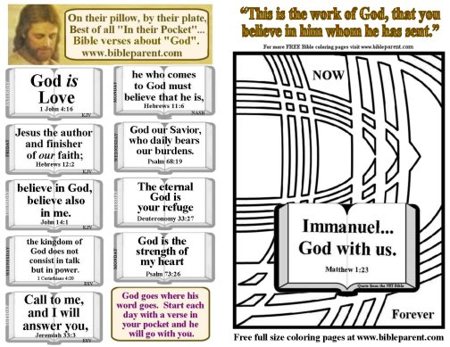Bulletin Insert with verses about God