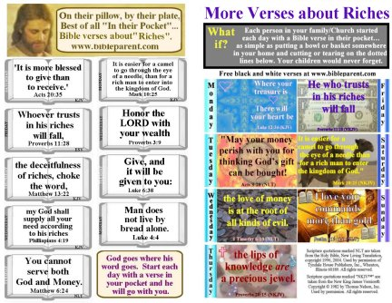 Bulletin Insert with verses for kids