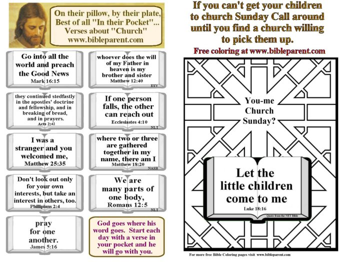Church Bulletin verses about Scripture
