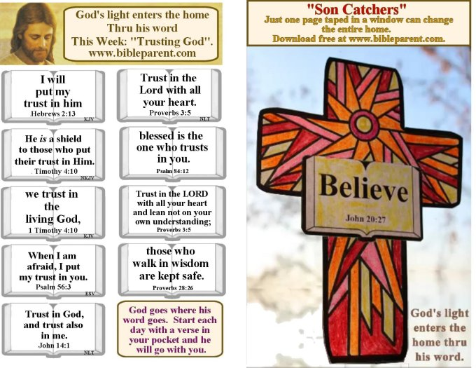 Church Bulletin verses about Trust