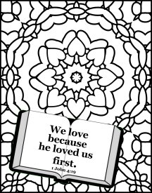 Free Bible Coloring Pages About Love And Free Bible