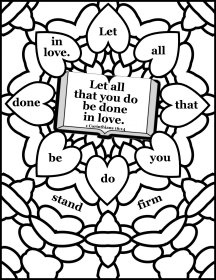 Free Scripture Coloring page