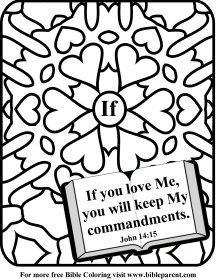 Bible coloring page love