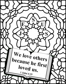 Coloring page for Sunday School