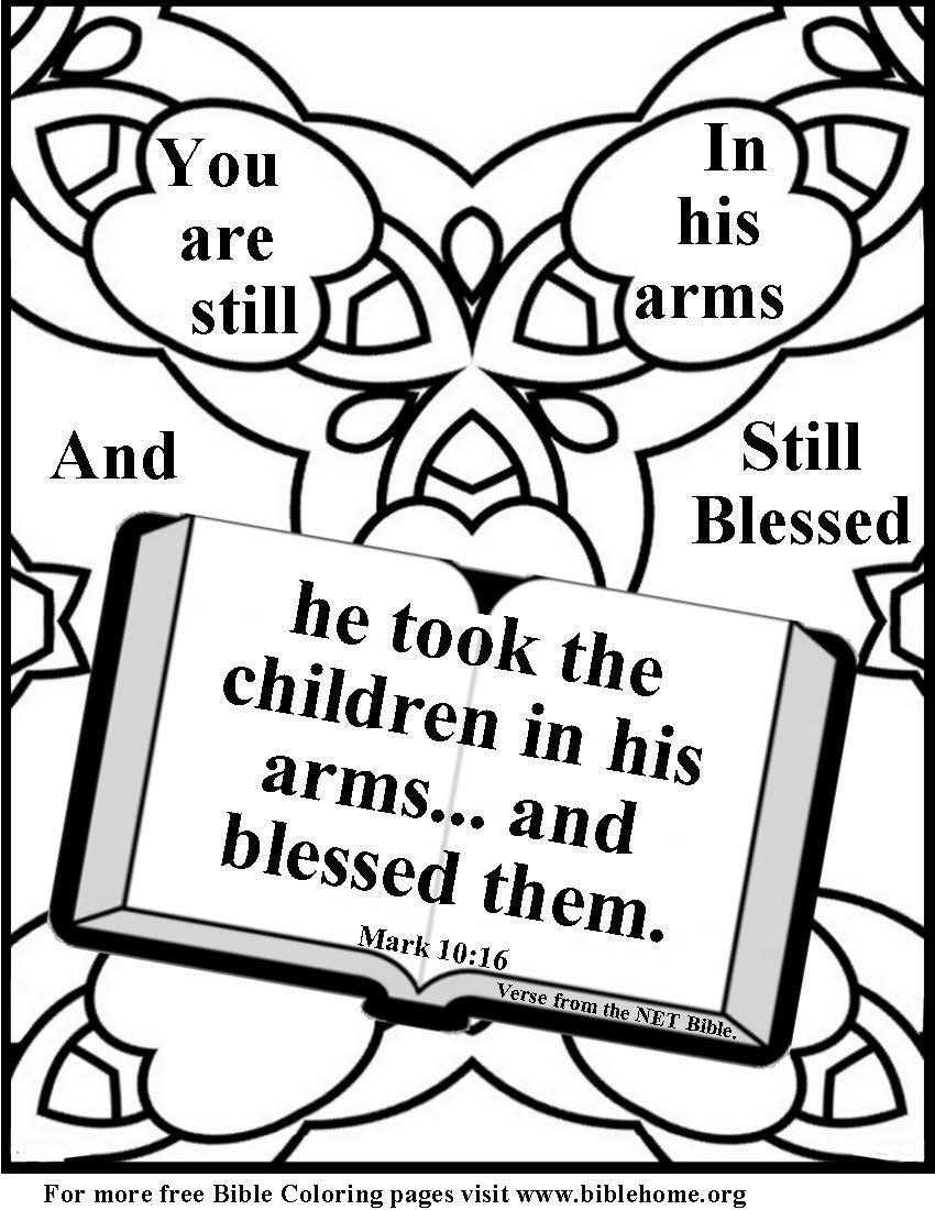 Bible Coloring for children of divorce