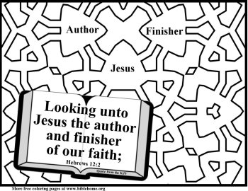 Bible coloring true faith