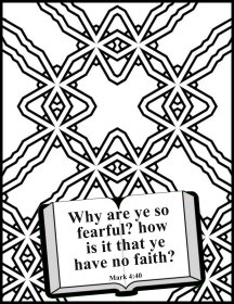 Bible coloring personal faith