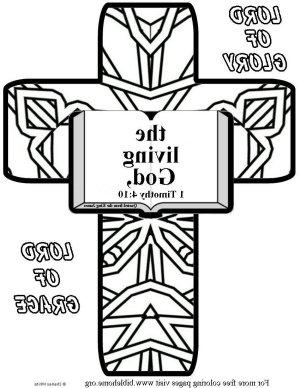 Bible coloring- living god m