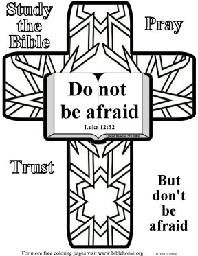 Bible coloring: Fear Not