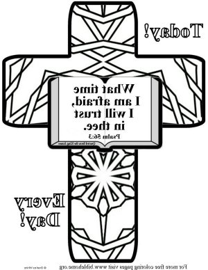 Bible coloring-i trust in you