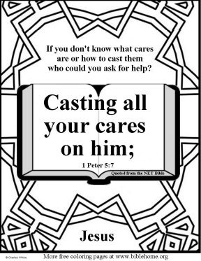 Free Bible Coloring pages about fear, NET Bible