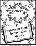 Bible Coloring Believe
