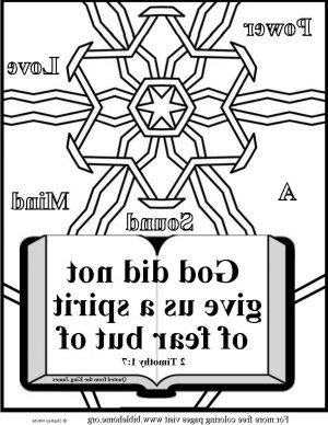 Bible coloring-sound mind m
