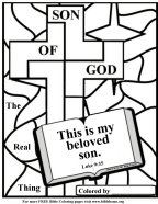 Jesus beloved son Bible coloring