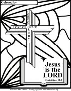 Scripture coloring pages, Christ-lord
