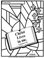 Bible coloring page, hope of glory