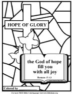Hope of Glory bible coloring