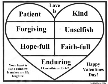 mini posters 1 corinthians 13 - Bible Verse For Valentines Day