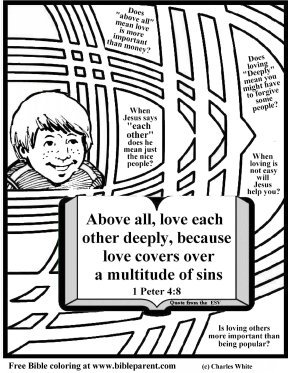 coloring page about love