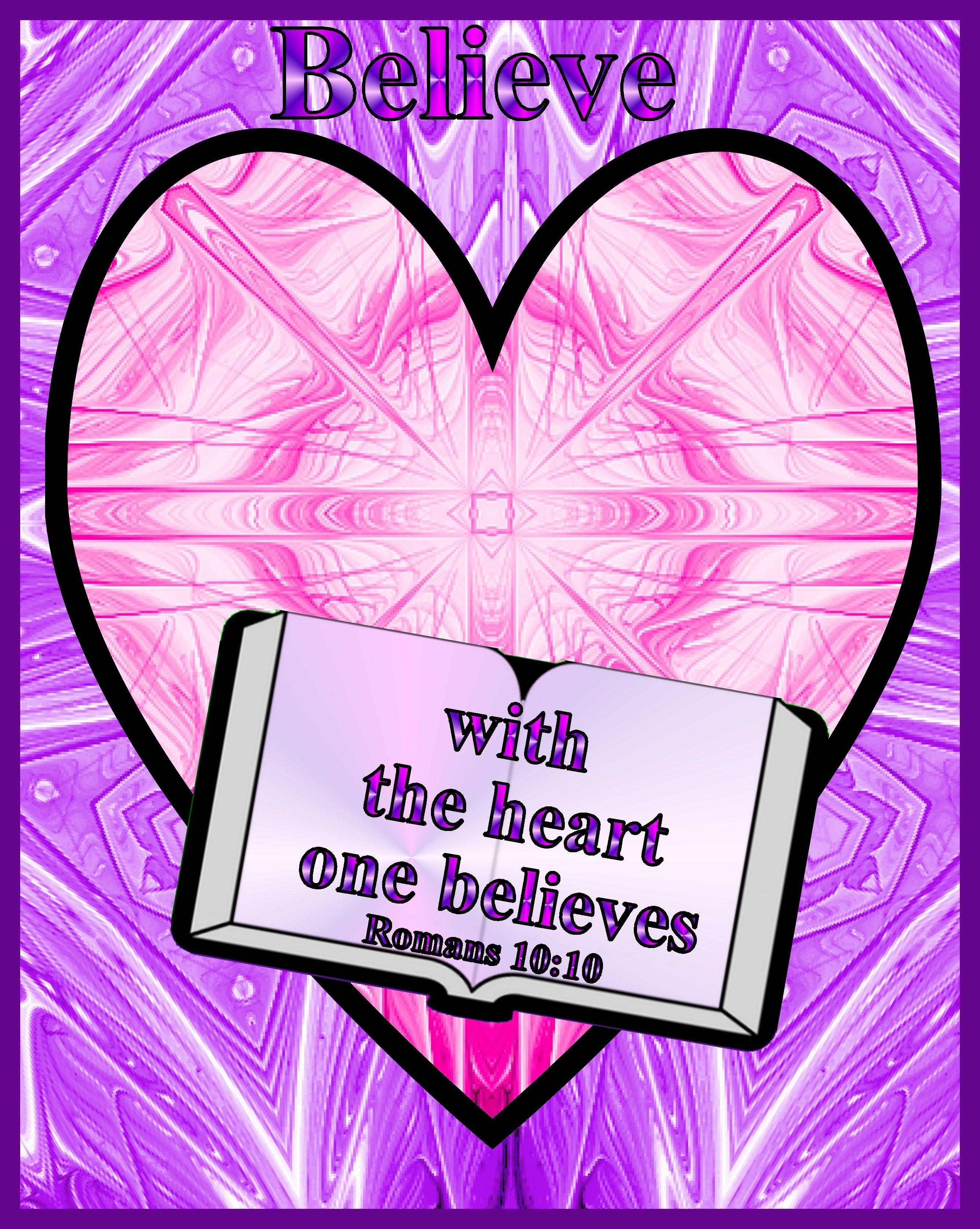 Bible poster-Romans 10:10