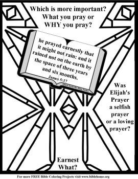 He prayed