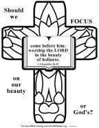 VBS craft about beauty