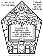 Bible coloring about church