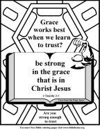 Bible Coloring Strength #13