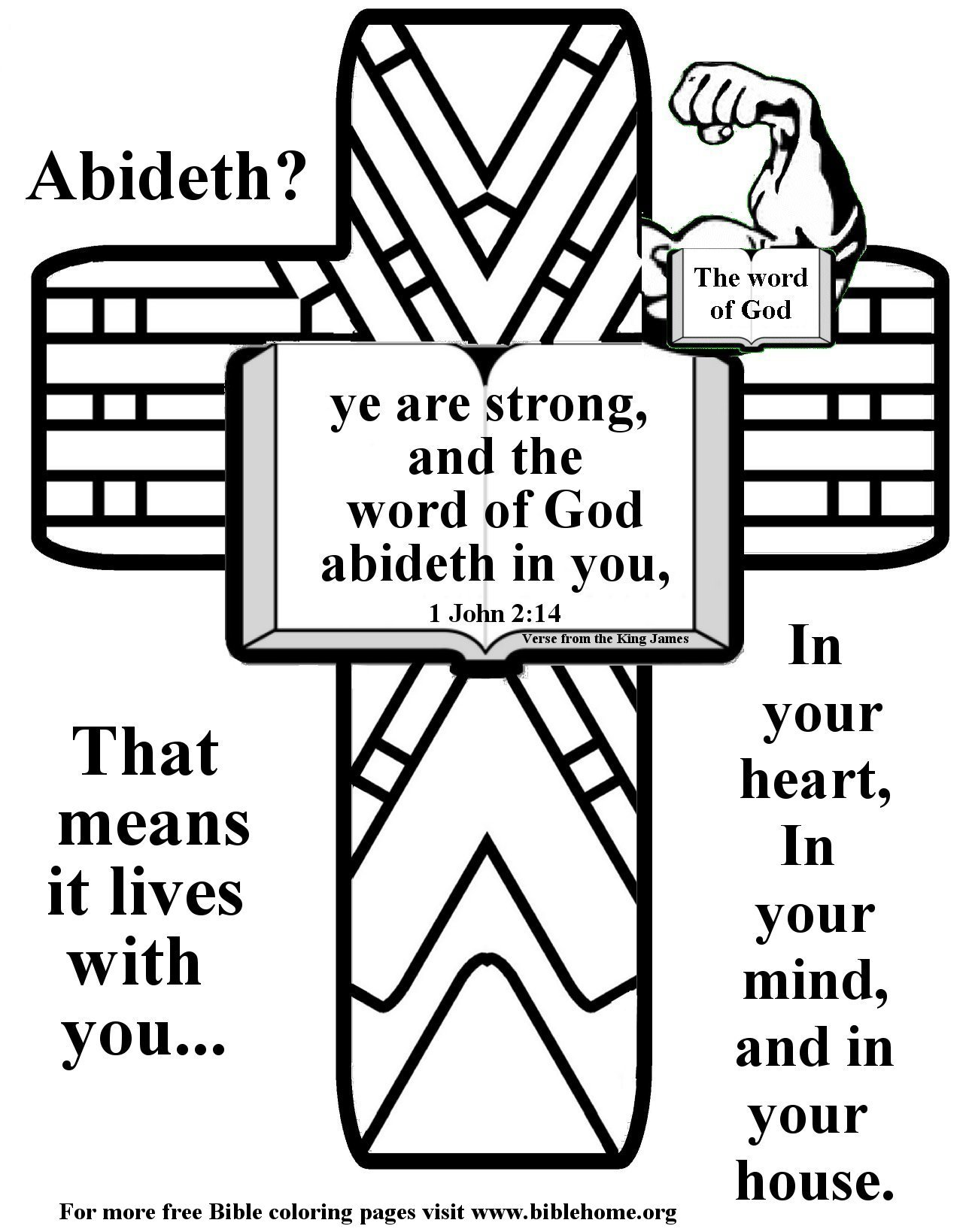 Bible Coloring pages about Strength plus free vbs crafts ...