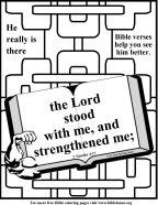 Bible Coloring Strength #15