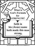 Bible Coloring Strength #2