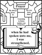 Bible Coloring Strength #3