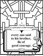 Bible Coloring Strength #4