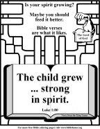 Bible Coloring Strength #8