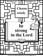 Bible Coloring Strength #9