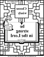 Bible Coloring Strength mirror9