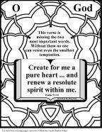 Bible Coloring Pure Heart