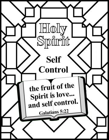 Bible Coloring Holy Spirit