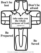 Bible Coloring Armor of God