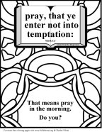 Bible Coloring Temptation 9